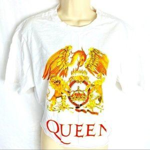 Queen Official Merch Cropped Top Classic Logo L